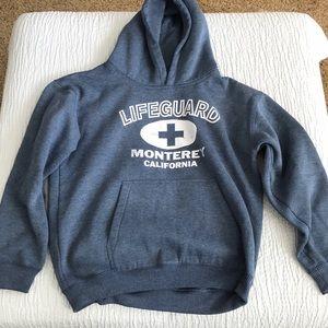 "B1get1halfoff ""Lifeguard Monterey Ca"" hoodie kidL"